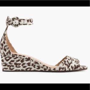 J. Crew Laila Cheetah Wedge Sandals New in Box 7